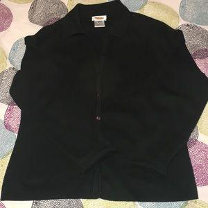 Hunter Green 100% Cotton Talbot's Size M Cardigan